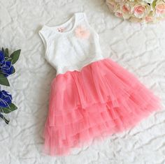 Deep pink tulle dress $26.95