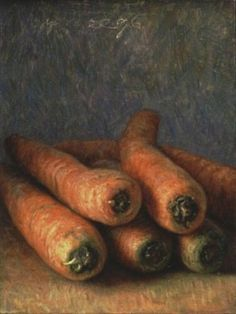 Jaap Roose, 'Carrots' 1996 oil on masonite Realistic Paintings, Easy Paintings, Still Life Artists, Watercolor Fruit, Still Life Fruit, Fruit Painting, Painting Still Life, Pastel Art, Painting Inspiration