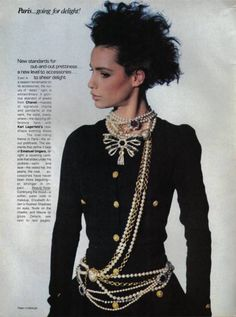 'Paris……Going for Delight' from…………Vogue April 1984 feat Christine Bolster & Kim Williams