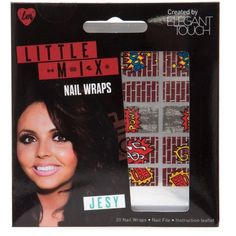Little Mix Red Brick Jesy Nail Wraps ($7.62) ❤ liked on Polyvore