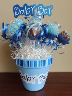 Baby Boy Bouquet by CeCesPopShoppe on Etsy