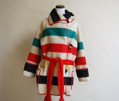 Very Rare Vintage 1920s Hudson's Bay Blanket Coat by LolaAndBlack, $495.00