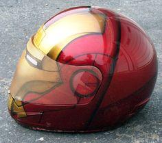 Iron man motorcycle helmet.