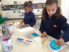 3rd graders completed their paintings in the style of Margaret Mee. http://www.stpaulsschool.org/page.cfm?p=4910