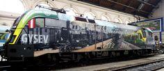 Bp. Keleti pu. GYSEV Taurus Electric Train, Taurus, Art Deco, Explore, World, Vehicles, Pictures, Trains, Europe