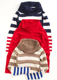 The Limited - Shirred-Side Cowlneck Sweater....I want the blue and red striped one!
