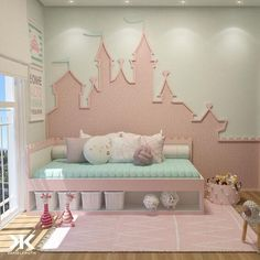 40 Extraordinary Kids Room Design Ideas That Your Kids Will Love It - Each and every room of your home is undoubtedly very important and needs special care and attention in its decoration. Baby Room Decor, Bedroom Decor, Disney Bedrooms, Princess Room, Kids Room Design, Big Girl Rooms, Girls Bedroom, Room Inspiration, Home