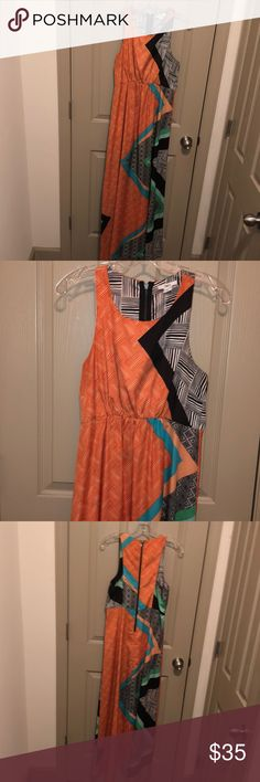 eaa341fb0926f Shop Women s Bar III Orange Black size M Maxi at a discounted price at  Poshmark.