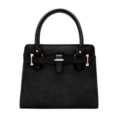 Black Classic Metal Embellished Tote Bag ($16) ❤ liked on Polyvore featuring bags, handbags, tote bags, metal tote, metal purse, embellished purses, tote bag purse and handbags tote bags