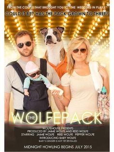 """<p>""""Our+last+name+is+Wolfe.+In+an+effort+to+tie+on+our+family+name+as+well+as+have+a+fun+sense+of+humor,+we+decided+to+take+the+'Wolfepack'+theme+from+the+movie+'The+Hangover.'+Our+announcement+is+modeled+after+the+original+movie+poster!""""</p>"""