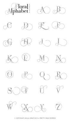 Graffiti Lettering Alphabet, Hand Lettering Alphabet, Alphabet Art, Typography Letters, Creative Lettering, Lettering Styles, Fancy Letters, Doodle Inspiration, Lettering Tutorial