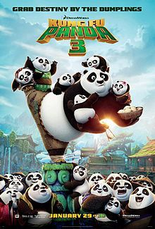 Kung Fu Panda 3, 2016 - Master Oogway (Randall Duk Kim) fights against an adversary named Kai (J. K. Simmons), who has defeated other kung fu masters in the realm and taken their chi, turning them into small jade charms. Oogway willingly gives in and also has his chi stolen, but not before warning Kai that the Dragon Warrior, Po (Jack Black), will stop him.