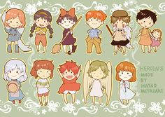 Little heroins from studio ghibli - by Hayao Miyazaki Hayao Miyazaki, Studio Ghibli Art, Studio Ghibli Movies, Personajes Studio Ghibli, Studio Ghibli Characters, Movie Characters, I Love Anime, Animation Film, Anime Comics