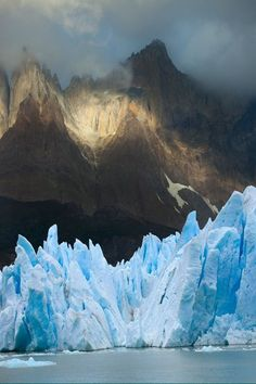 Grey glacier in Torres del Paine National Park, Patagonia, Chile Patagonia travel Chile Places Around The World, The Places Youll Go, Oh The Places You'll Go, Around The Worlds, Beautiful World, Beautiful Places, Beautiful Pictures, Torres Del Paine National Park, Photos Voyages