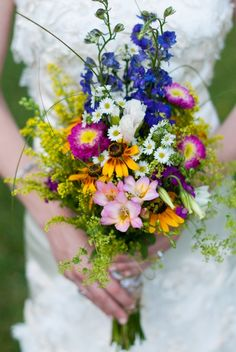 wild flower wedding bouquets
