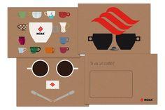 Packaging cialde Caffè Moak by Simona Catalfo, via Behance #italian #coffee #postcard #mug #cup