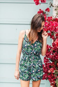 Chic of the Week: Veronica's Pretty Palm Print
