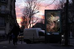 """Etienne Lavie, a French artist, created the series """"OMG who stole my ads?"""" and it's absolutely breathtaking. He replaces street advertisements with classical paintings and the difference is shocking. #advertising #art #EtienneLavie #art #advertising"""