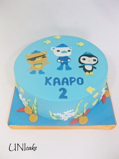 C99. Oktonautit-kakku. Octonauts cake