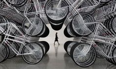 Reinventing the wheel … Ai Weiwei's Forever Bicycles, part of his Absent exhibition at the Taipei Fine Arts Museum.