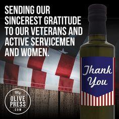 #veteransday #thankyou #myolivepress www.myolivepress.com