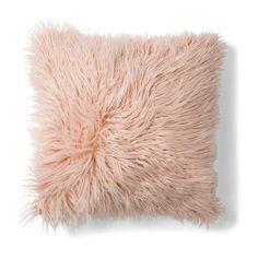 Faux Fur Cushion Pillow Soft Fluffy Blush Pink 50 x Home Décor Fluffy Cushions, Pink Cushions, Floor Cushions, Bedroom Cushions, Kmart Decor, Gold Rooms, The Beast, Zsa Zsa, Faux Fur Throw