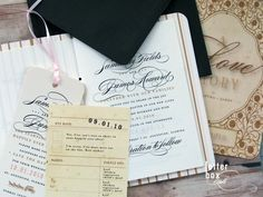 wedding invitation in the form of a love story book - Google Search