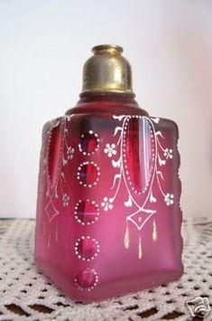 Victorian Cranberry Glass perfume bottle