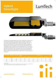 iLumTech - Thermal Design - Hybrid Streetlight - a new concept of a heatsink ensures better resistance to shock and vibration, no antenna effect, increase heat transfer performance, reduce weight, save costs and makes the production much easier.