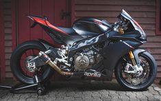 Download wallpapers Aprilia RSV4RR, 2017, black sports bike, italian motorcycles, Aprilia
