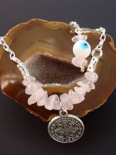 Rose Quatrz Love Bracelet coupled with St by ParanormalProtection, $20.00