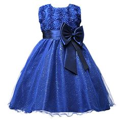 """ASHERANGEL Girls 3D Flower Formal Wedding Bridesmaid Party Dress Age 1-9 Years Navy. Material: Polyester Fibre / Gauze. Asherangel is an US brand serial number is 86480051.Sold by Askformore store front. 3D flower details bodice with bowknot on waist/ Multilayered tulle dress/ Zipper closure. Perfect for Flower Girl Dress, Pageant Dress, Easter Dress, Birthday Party Dress and Other Special Occasions. Notice: Pls refer to our size chart which in """"product description"""" and your girls size..."""