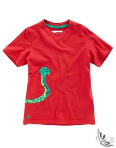 Joules Boys' Canby Applique T-shirt - Red
