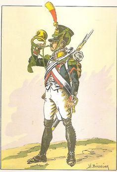 Cornetta dei volteggiatori del 18 reggimento fanteria di linea francese nel 1809