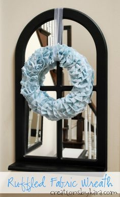 Ruffled Fabric Wreath Tutorial