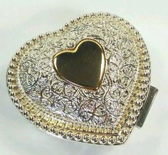 Silver Toned Origami Boat Design Pendant Oval Trinket Jewelry Box