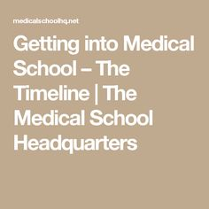 Getting into medical school takes a lot of work spread over multiple years. Knowing the premed timeline can help you be prepared every step along the way. School Plan, Prep School, College Hacks, College Life, Getting Into Medical School, Chemistry Jokes, School Application, College Planning, Nursing Tips