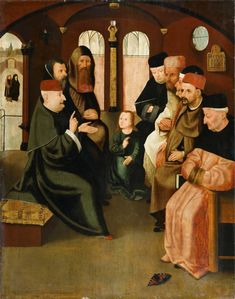 After Hieronymus Bosch - Christ among the Doctors