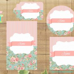 Kit Festa Floral no Elo7 | Marla Personalizados (2BC225) Shabby Chic, Floral, Logo, Water Art, Mint To Be, House Party, Party Kit, Logos, Logo Type
