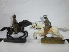 Konvolut 2 alte Hausser Elastolin Massesoldaten Abessinier Reiter zu 7.5cm   eBay