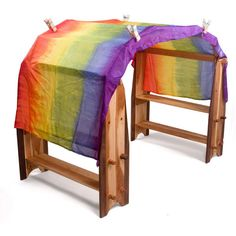 Silk Rainbow Canopy In Waldorf Playstands Waldorf Kindergarten, Teaching Kindergarten, Fairy Dust Teaching, Wooden Play Kitchen, Classroom Layout, Home Daycare, Green Toys, Natural Toys, Toy Craft