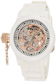 Invicta Women's 1827 Russian Diver White Skeleton Dial Watch - List price: $995.00 Price: $89.95 Saving: $905.05 (91%)