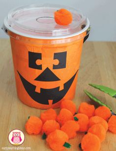 fall fine motor activities - feed the jack-o-lantern activity