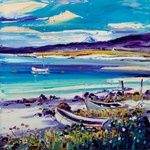 Jean Feeney, oil on canvas, 40x40cm, £750. #13255 SOLD Isle Of Islay, Glasgow, New Art, Oil On Canvas, Art Gallery, Colours, Mountains, Artist, Travel