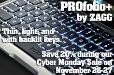 Save 20% on ZAGGkeys PROfolio+ on Cyber Monday