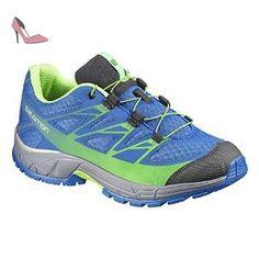 Salomon  Wings K, Chaussures de marche pour garçon Turquoise Türkis (Union Blue/Dark Cloud/Granny Green) 30 - Chaussures salomon (*Partner-Link)
