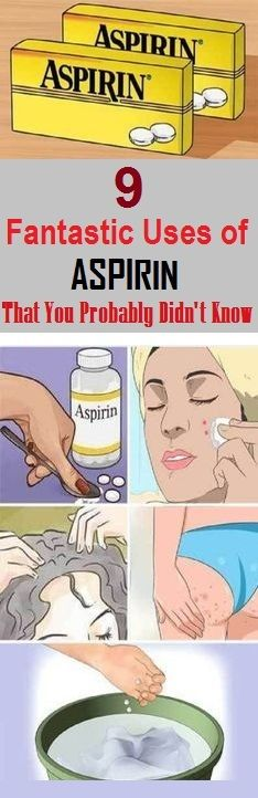 Here are awesome benefits of an aspirin. From treating acne to eliminating dandruff, we are presenting you 10 fantastic uses of Aspirin that you probably didn't know. Acne Treatment Aspirin has… Health Remedies, Home Remedies, Natural Remedies, Holistic Remedies, Herbal Remedies, Health And Beauty, Health And Wellness, Health Fitness, Health Care