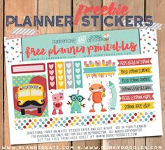 Free Printable Back to School Planner Stickers from Dorky Doodles