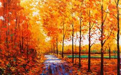 autum tree paintings. Read Full article: http://webneel.com/tree-paintings | more http://webneel.com/daily . Follow us www.pinterest.com/webneel