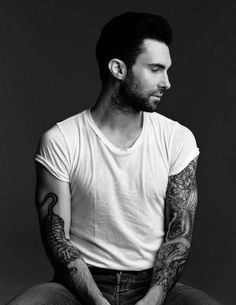 Adam Levine...the man who makes me want to have a sleeve tattoo of my own!! <3